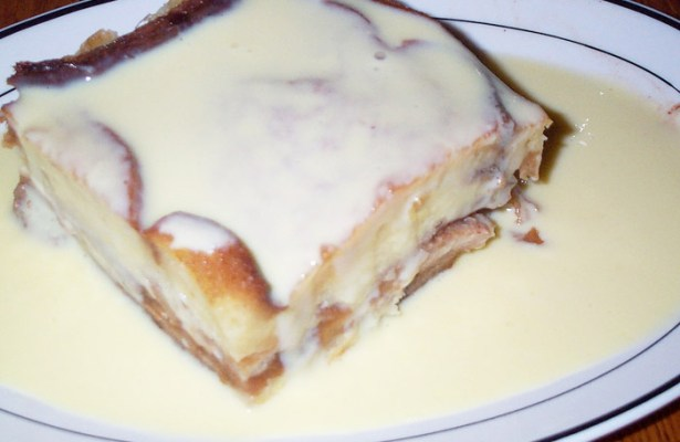 Bread Pudding with Glazed Top