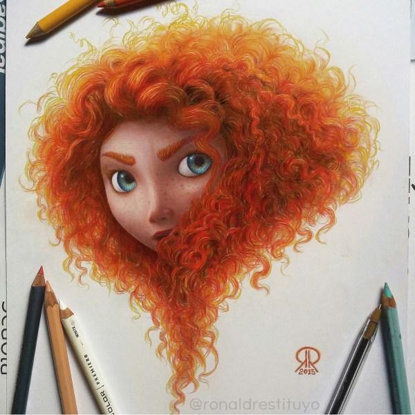 Color Pencil Drawing Merida