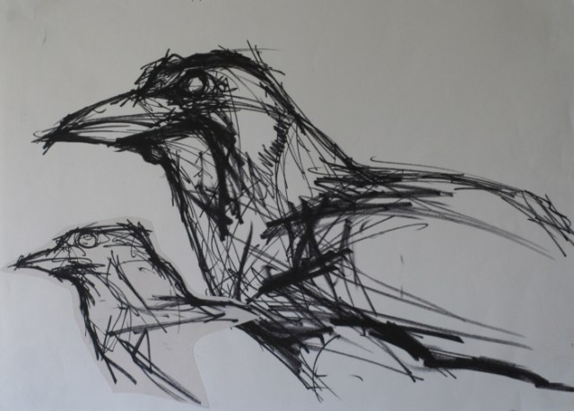 'Drawing of a crow' - 1999
