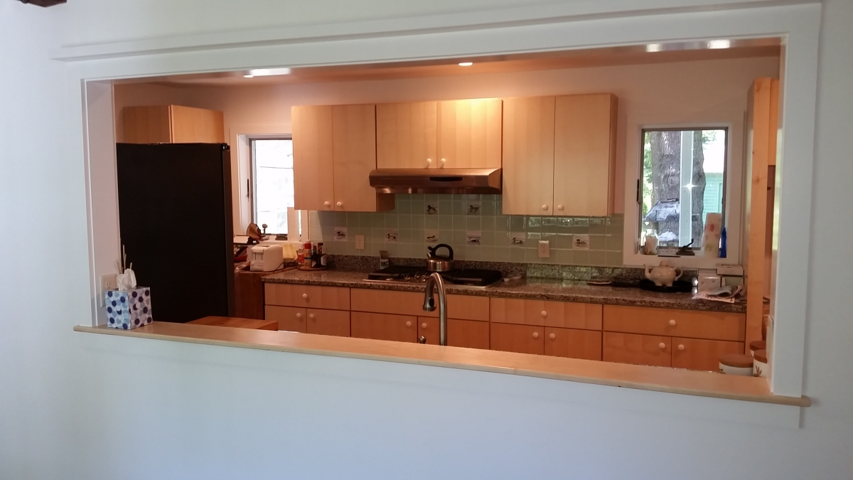 kitchen pass through window clear canisters sedgwick - general contractor bangor, maine ...