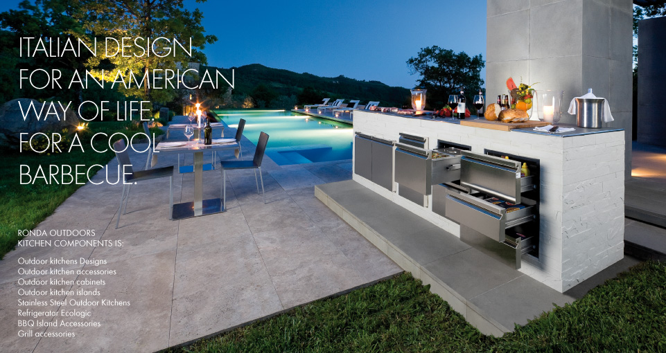 outdoors kitchen coffee color cabinets outdoor kitchens accessories ronda