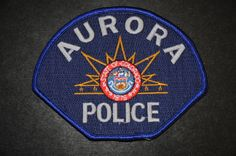 Aurora CO police patch