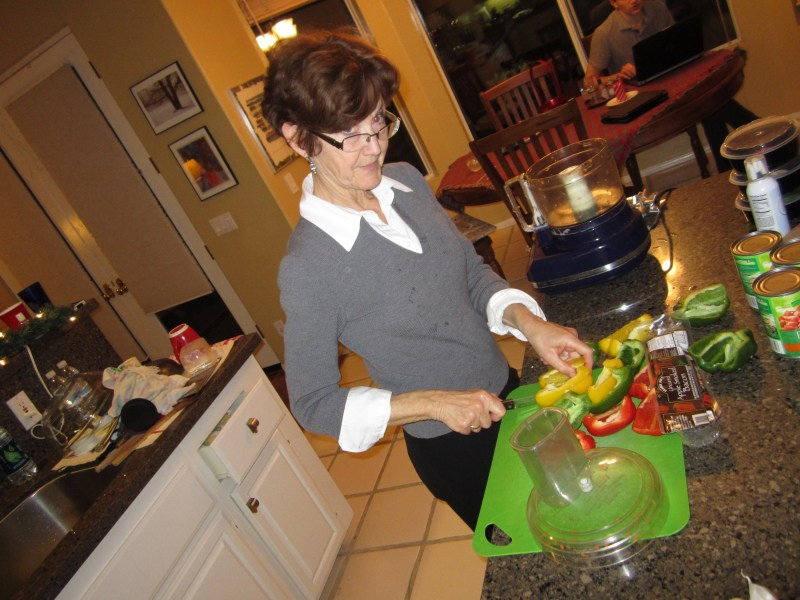 IMG_0971 Mom looking over her glasses as she prepares dinner. Innocent questions can hide a hook.