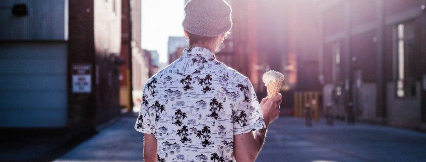 woman eating ice cream