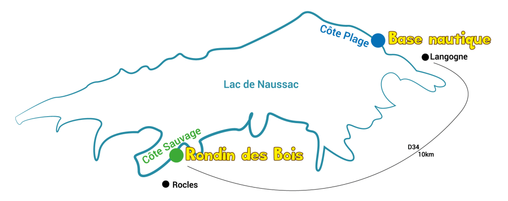 lac naussac base nautique base de loirsirs 48