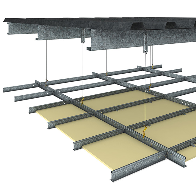 duo exposed grid ceiling system rondo
