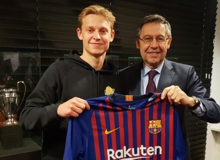 Frenkie de Jong con el Barça
