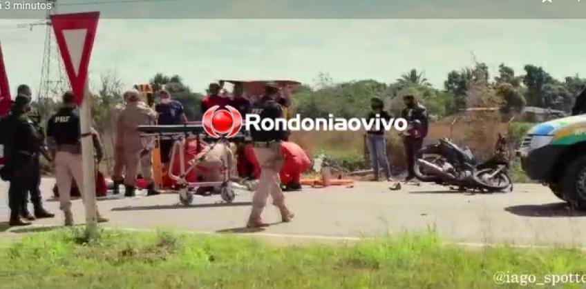 AGILIDADE: Helicóptero dos Bombeiros socorre motociclista vítima de grave acidente na BR-364