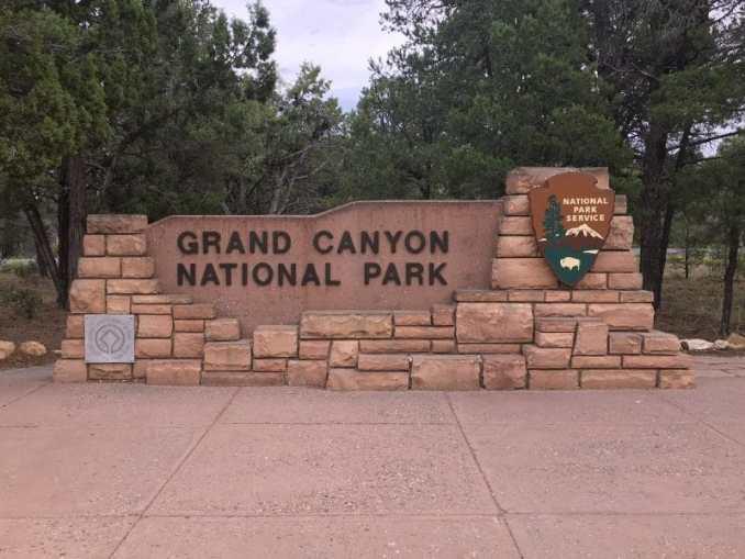 Grand Canyon ingang bord