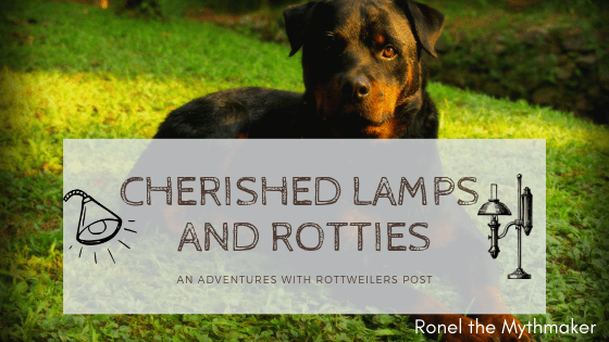 Adventures with Rottweilers Cherished Lamps and Rottweilers