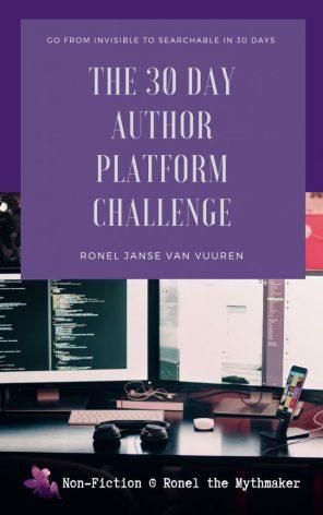 30 day author platform challenge book