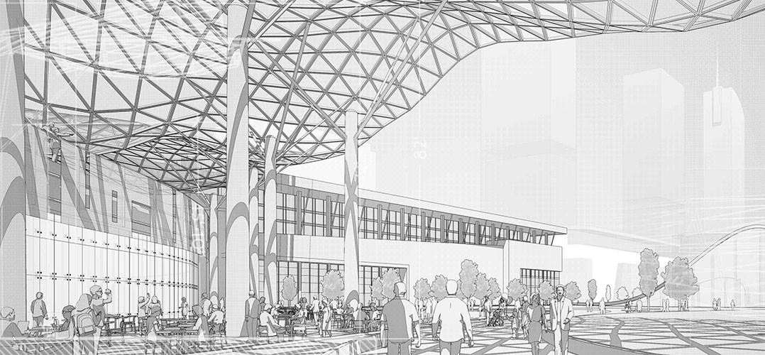 dessin pour architectes - rendu 3d sketch