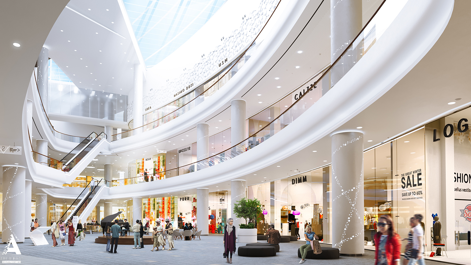 Grozny Mall Visualization Of One Of The Biggest Shopping
