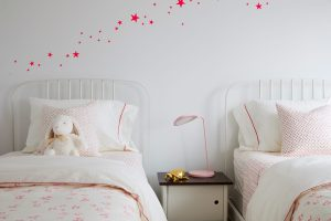 Muuto Little Auggie girls bedding pink wall stickers ferm living