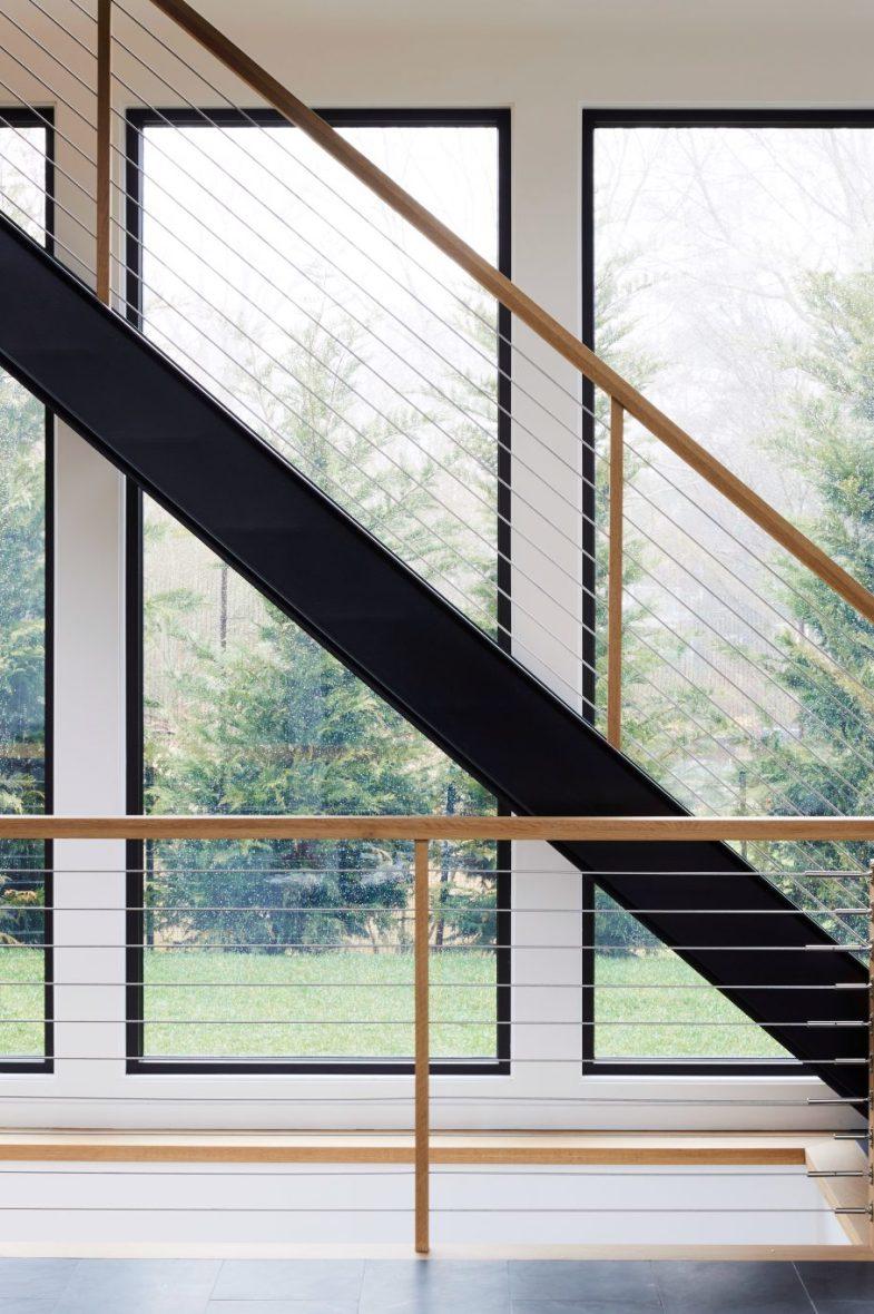 open tread modern stairs