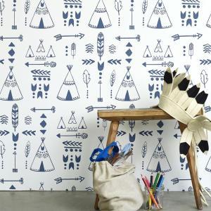 Hibou Home Teepee Wallpaper for kids