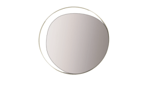 Red Edition ellipse brass wall mirror bathroom