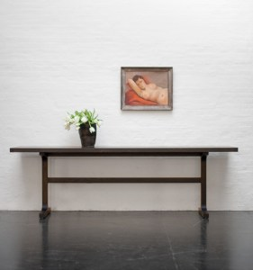 Trestle Runner solid wood console table
