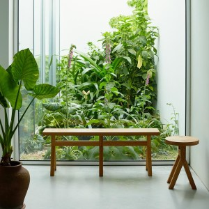 Commune wooden bench