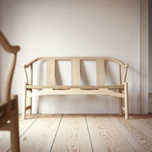 Hans Wegner PP266 Chinese bench in wood