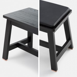 Studioilse black wood bench