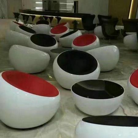 Fiberglass Half Egg Pod Ball Scoop Chair Dome Chair Eero