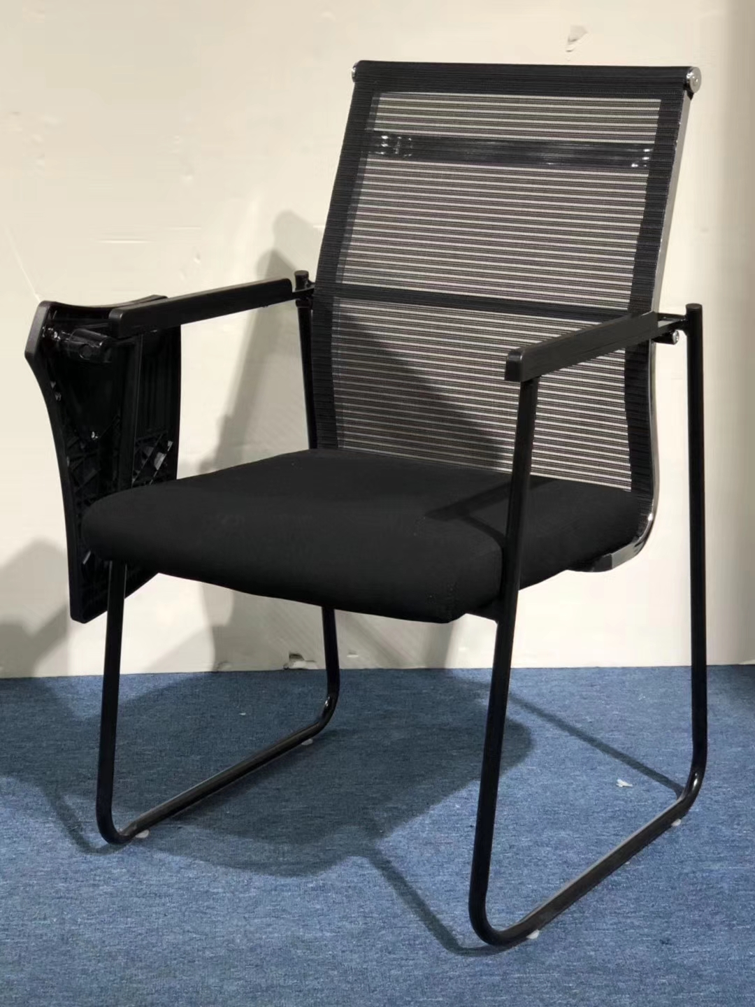folding visitor chair babies r us high chairs stackable office training staff used