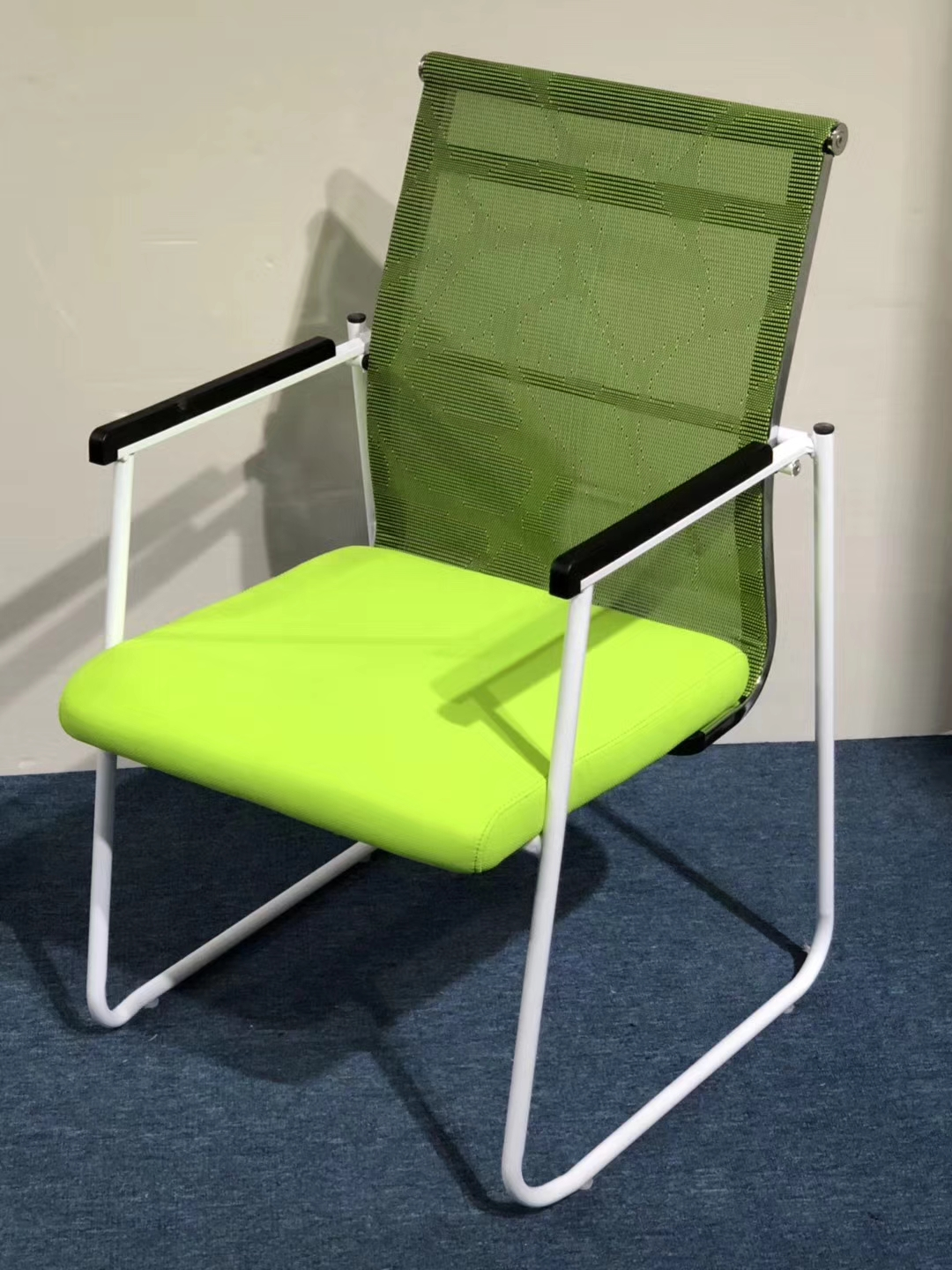 folding visitor chair vintage childs rocking stackable office training staff used