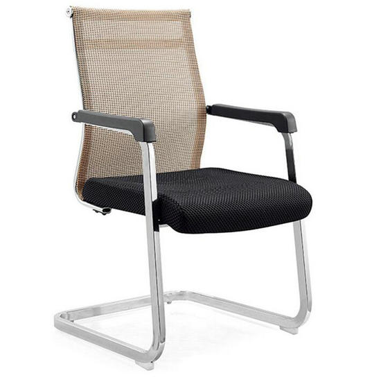 Low Price Visitor Chair Mesh Meeting Room Office Chair Cantilever Chair Without Wheels Cheap