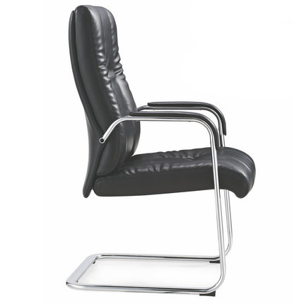 swivel desk chair without wheels lawn repair material foshan high standard pu leather armrest office for meeting room computer with bow ...