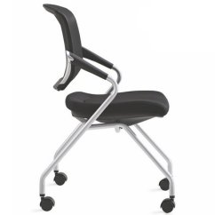 Folding Executive Chair Pedestal High Multi-functional Four Legs Office Conference Meeting Training Room Seating With ...