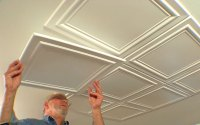 Embossed Ceiling Tiles Add Elegance to a Room  DIY