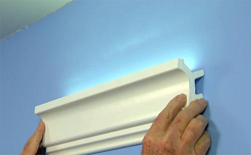 Easy Inexpensive Cove Lighting Uses Foam Crown Molding And LED Light Tape Ron Hazelton