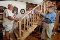 How to Build a Stair Railing with a Rustic Look  DIY ...