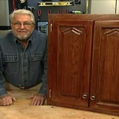 How To Refinish Kitchen Cabinets Without Stripping Trim • Diy ...