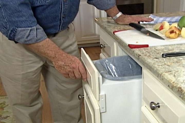 kitchen trash can pull out painting cabinets how to make a bin diy projects videos