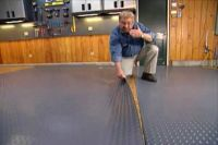 How to Put Down a Roll-Out Floor Covering in a Garage ...