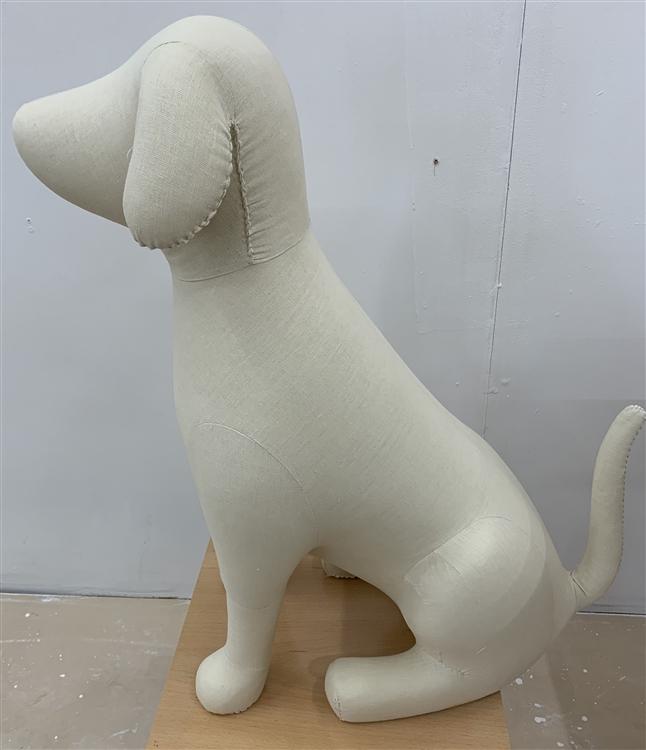 Dog Mannequin Large Foam Linen Dog Prop Display Dog