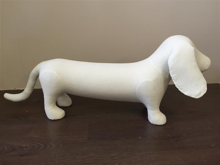 Dog Mannequin Dachshund Foam Linen Dog Prop Display Dog Clothes Display Dog Mannequin For