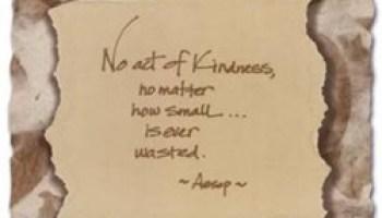 Make a list: Ways to be kind