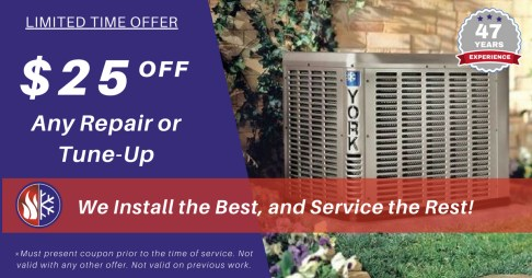 $25 Off any repair or tune-up | Ronk Brothers Heating and Cooling