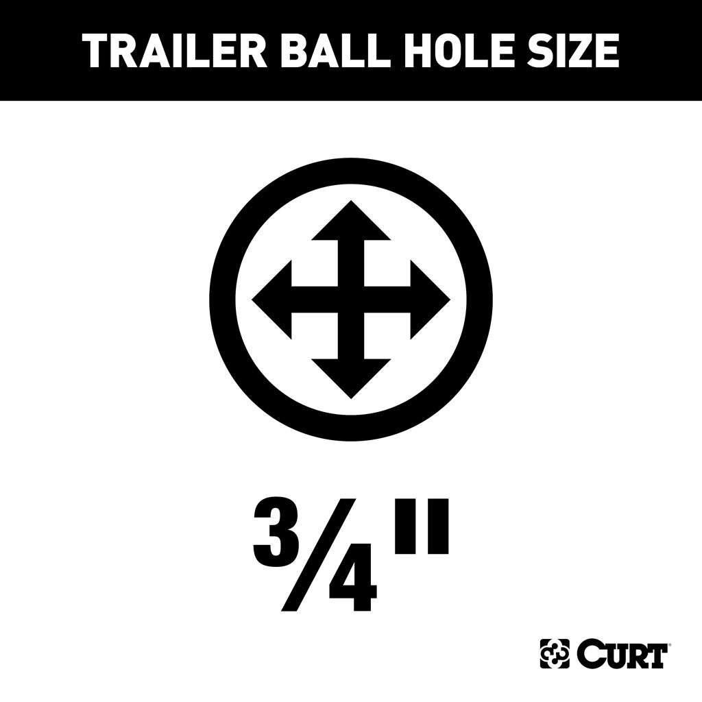 Curt Class 1 Fixed Tongue Trailer Hitch With 3 4 Trailer