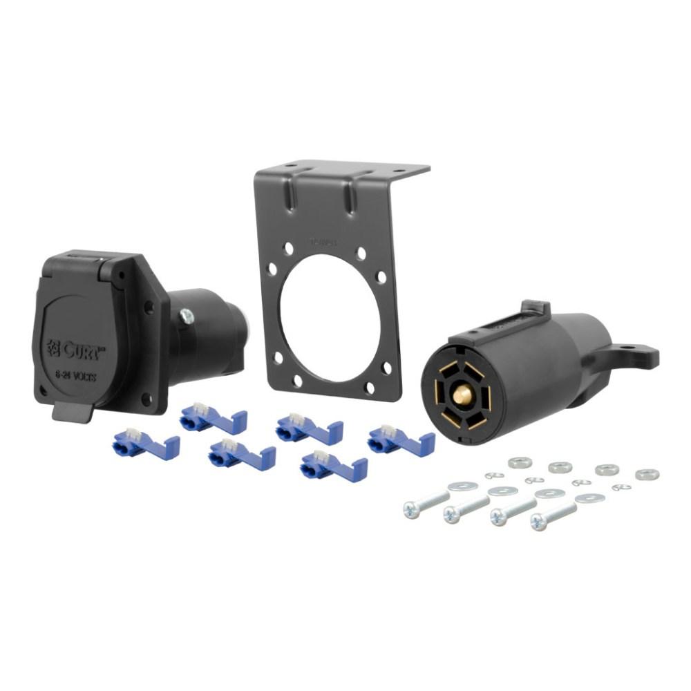 medium resolution of curt 7 way rv blade connector plug socket kit 58152