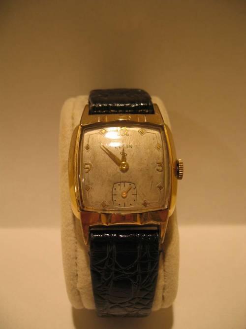 Vintage Elgin Mens Watch Fancy Bezel 1952 17 Jewels