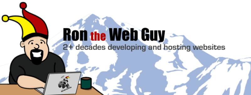 ron the web guy 2+ decades of web developing and web hosting