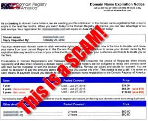 domain registry america scam