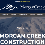 Morgan Creek Construction LLC website revamp