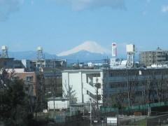 ちらりと富士山の姿が…