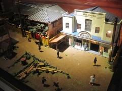 古い時代のジオラマなどの展示