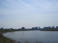 川崎市中心部が見えてきた